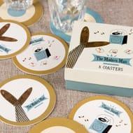 Modern Man Coasters (Set of 8)