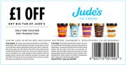 £1 off coupon for Jude's ice cream