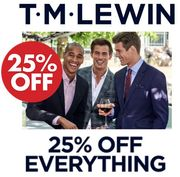 25% off EVERYTHING at TM LEWIN (With This Code)