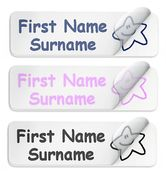50 Waterproof PVC Personalised Lunch Box / Shoe Stickers £4.49 Delivered