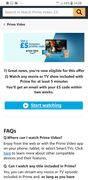 Free 5 Pound Voucher When You Have a £20 Spend Watching Amazon Prime