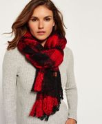 Womens Superdry Orkney Scarf Red