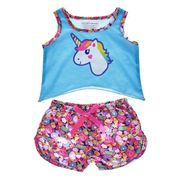 Build a Bear Rainbow Unicorn Pyjamas