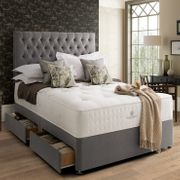 Pocket Spring Bed Company Pemberley Mattress & Grey Divan with 4 Drawers