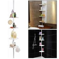 """4 Tier Adjustable Bathroom Corner Shelf Shower""""PRIME DELIVERY"""""""