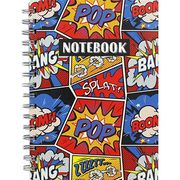 A5 Wiro Comic Graphic Lined Notebook