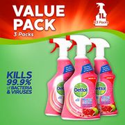 Dettol Clean and Fresh Multi-Purpose Cleaning Spray - Pack of 3