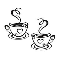 Cafe Tea Wall Stickers Coffee Cups Art Vinyl