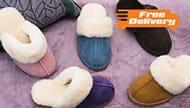 Women's Redfoot Australian Sheepskin Slippers - 5 Colours - FREE Delivery!