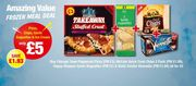 Frozen Meal Deal Chicago Town Pizza Fries 2 Garlic Bread and a Vienetta