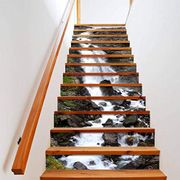 Waterfall Vinyl Stairs Stickers Free Delivery 70% off Promotion