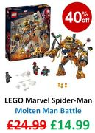 SAVE £10 - LEGO Marvel Spider-Man: Molten Man Battle (76128)