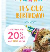 It's Our Birthday! Celebrate with 20% off Our BEST Yarns