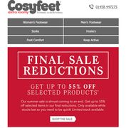 Further Reductions Available - Now up to 55%