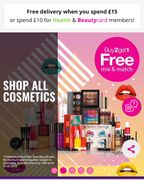 Buy 2 Get 1 Free Mix & Match on Selected Cosmetics at Superdrug