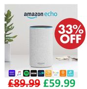 SAVE £30 - Amazon Echo (2nd Gen) - Smart Speaker with Alexa - Sandstone Fabric