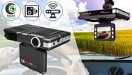 3-in-1 HD Dash Cam with Night Vision, Speed Camera Alerter & Collision G-Sensor