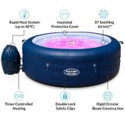 SAVE £170 - Lay-Z-Spa Saint Tropez Hot Tub with Floating LED Light