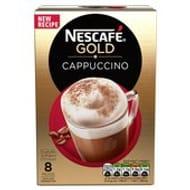 Nescafe Gold Cappuccino Coffee 8 Sachets X 17g 136g