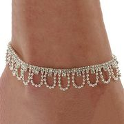 Celeb Crystal Charm Drop Ankle Chain Only £0.93 Delivered