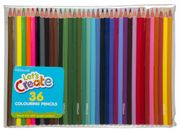 WHSmith Assorted Colouring Pencils (Pack of 36)