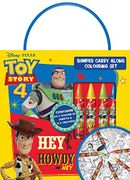 Disney Pixar Toy Story 4 Bumper Carry along Colouring Set with Wax Crayons