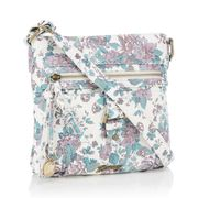 Mantaray - White Washed Floral 'St Ives' Cross Body Bag