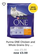 Purina ONE Chicken and Whole Grains Dry Cat Food 800g