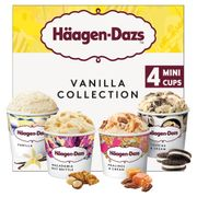 Haagen-Dazs Vanilla Minicup Ice Cream Collection 4x95ml