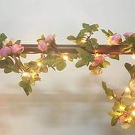 Yukio 2 Meter 20 LED Flower Leaf Garland Battery Operate Copper LED Fairy