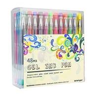 Gel Pen Set, Ariel-Gxr 48 Packs Glitter Gel Pens,non-Toxic,ergonomic