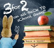 Beatrix Potter Gifts - 3 for 2 on ALL Back to School!