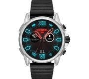 *SAVE £100* DIESEL Full Guard Smartwatch - Black, Leather Strap
