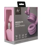 Kit Sound Brooklyn Wired Headphones With Mic In Pink or Black £6
