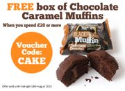 FREE Box of 15 Chocolate Caramel Muffins When You Spend £20 or More