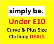 SIMPLY BE - SALE - UNDER £10 CURVE & PLUS SIZE CLOTHING BARGAINS