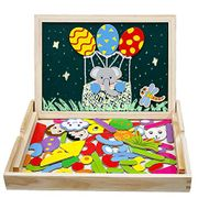 Wooden Magnetic Drawing Board Elephant Jigsaw Puzzles - save £8