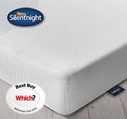 Silentnight 3 Zone Memory Foam Rolled Mattress, Made in the UK, Medium, UK King