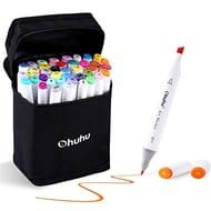 40 Colours Dual Tips Permanent Marker Pens