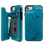 60% off Promixc iPhone 7 Case, iPhone 8 Wallet Case with Card Holder