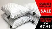 Hotel-Quality Stripe Pillows - 2 £7.99, 4 £12.99, 6 £13.99, or 8 £15.99