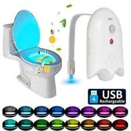 50% off 16 Colors LED Toilet Light Motion Detection