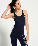 Womens Superdry Super Speed Sport Vest Top Navy (Small)
