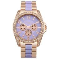 Identity London Ladies' Stone Set Lilac Dial Bracelet Watch