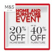 Up to 40% off Marks and Spencer Homeware!