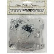 Just Married Silver Foil Letter Banner