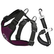 Dog Car Harness Seatbelt Set, Adjustable Elastic Strap Breathable Fabric