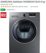 MEGA DEAL, SAVE £230. SAMSUNG AddWash 8kg 1400 Spin Washing Machine