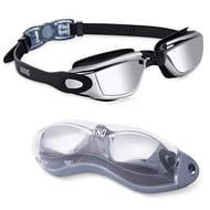 Aegend Swim Goggles, Mirrored Swimming Goggles
