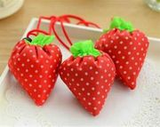 New Practical Shopping Strawberry Reusable Folding Grocery Tote Shopper Bag